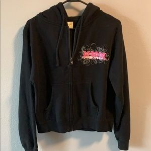 Racing zip up hoodie